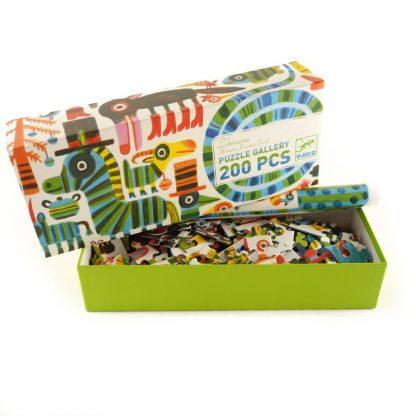 puzzle-gallery-zebrissimo-200-pcs-djeco-base