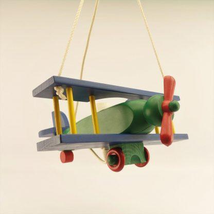 suspension-avion-coloree-en-bois-base